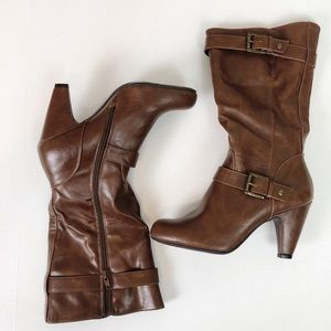 Nine West Danica Mid Calf Boot Sz 8